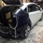 プリウス鈑金塗装事故修理
