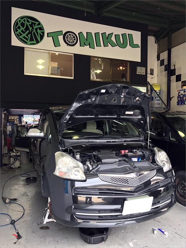 車検 トヨタのラクティス「DBA-SCP100」大阪・東大阪・八尾トミクル