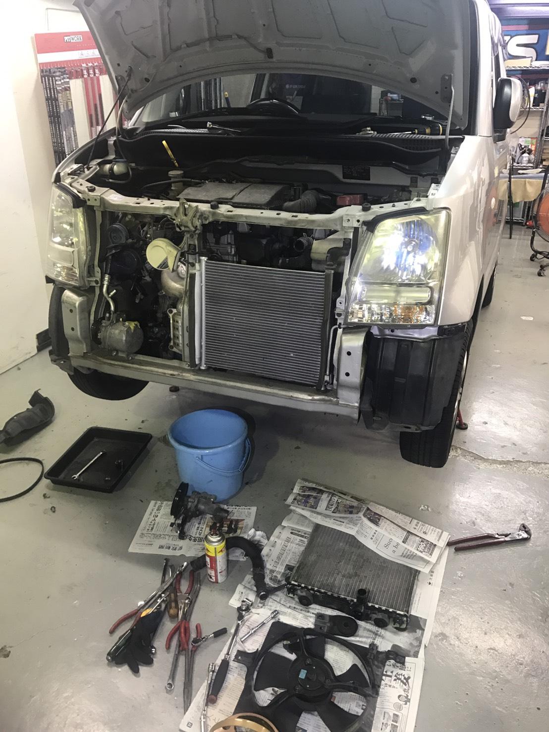 ワゴンR ラジエター・ウォーターポンプ 修理|大阪・東大阪・八尾トミクル
