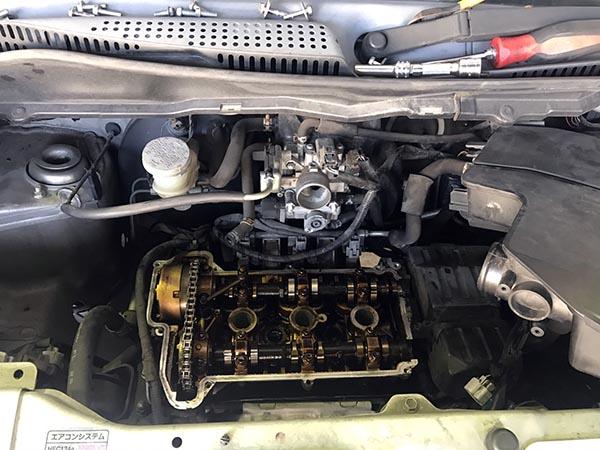 MH21SワゴンR オイル漏れ修理|大阪・東大阪・八尾で修理もトミクルに